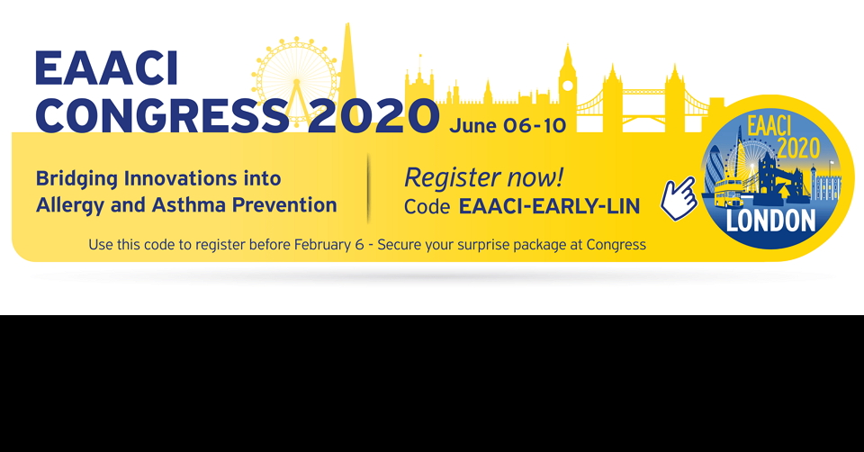 런던 유럽 알레르기 임상 면역 학회 총회 EAACI 2020 European Academy of Allergy and Clinical Immunology Congress