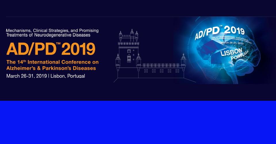 리스본 알츠하이머·파킨슨병 학회 회의AD/PD 2019International Conference on Alzheimer's and Parkinson's Diseases