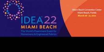 마이애미비치 산업용부직포/고기능성섬유자재 박람회 IDEA® 2022 International Engineered Fabrics Conference & Expo